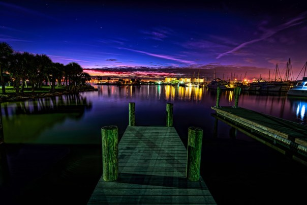 Blue hour at the marina