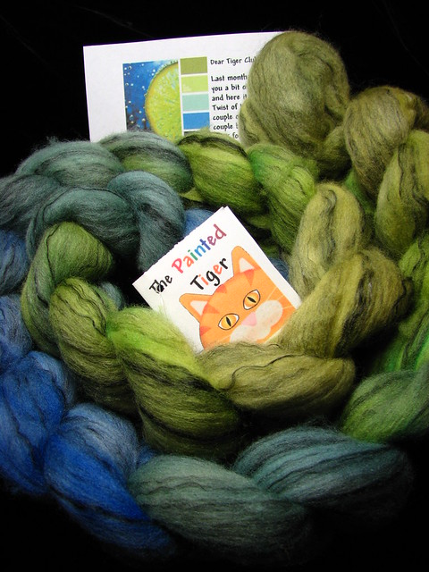 Twist of Lime September 2016 Tiger Club - Merino Tencel