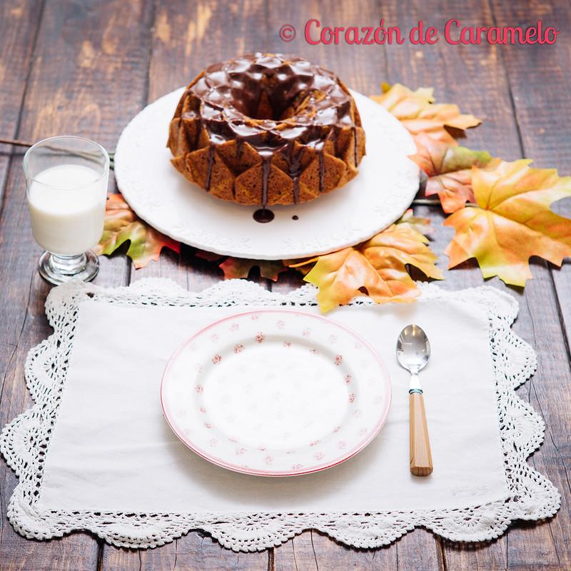Bundt Cake de Calabaza y Chocolate