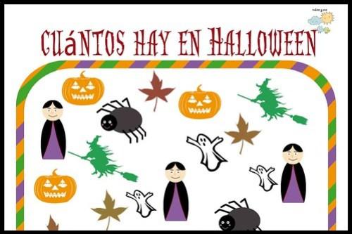 Juego de Halloween para niños ¿Cuántos hay? Descargable e imprimible gratis