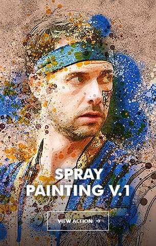Ink Spray Photoshop Action V.1 - 25