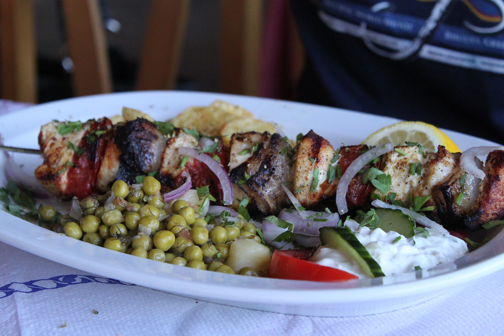 Chicken Souvlaki - Rhodes Greece