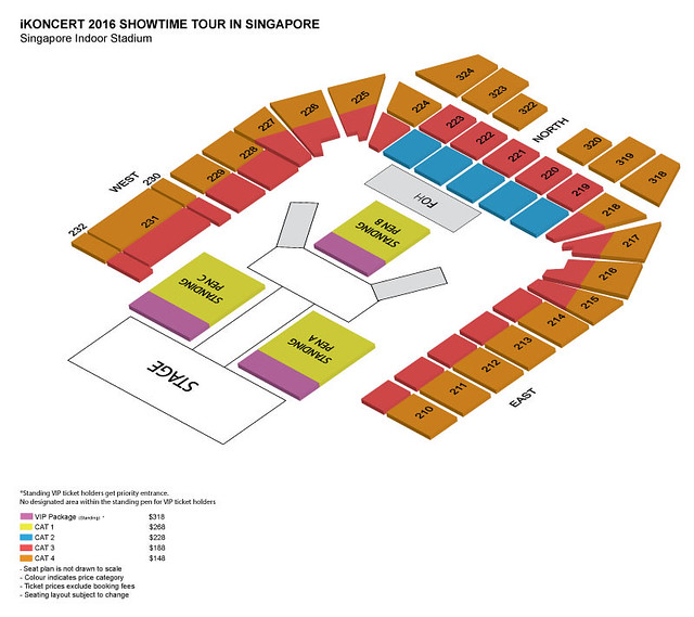 iKON SHOWTIME in Singapore Seating Plan