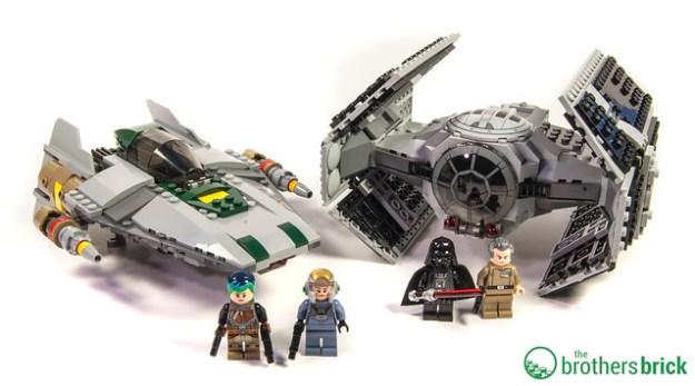 LEGO Star Wars 75150 Vader's TIE Advanced vs. A-Wing Starfighter ...
