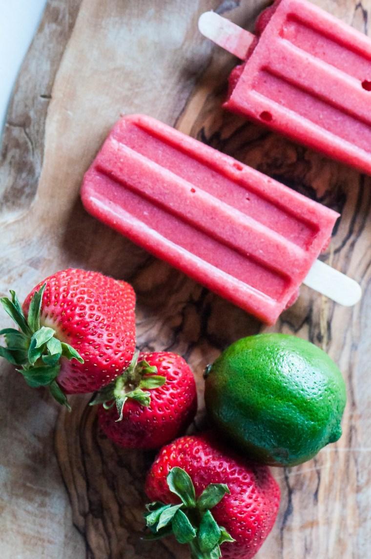 Strawberry Coconut Margarita Pops 5