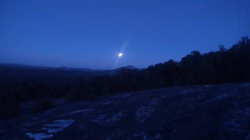 Bald Rock Summer Solstice Moonset