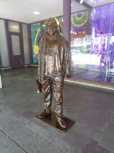 Ignatius J. Reilly Statue outside Hyatt French Quarter, New Orleans LA