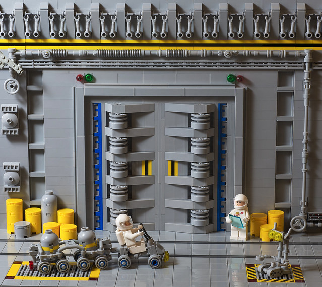 Sad Brick\u0027s latest model focuses in on this essential part of any space facility \u2014 and this door certainly looks like it can take the pressure. & The vastness of LEGO Space awaits beyond this door | The Brothers ...