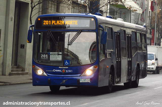 Transantiago - 201   Subus   Marcopolo Gran Viale - Volvo (Biportal) / FLXP14 - 7557