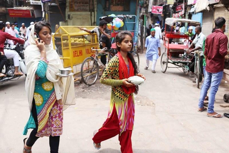 City Faith - The Little Eid Girl in Red, Old Delhi