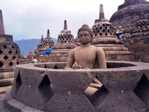 Borobodur Incomplete Stupa With Buddha