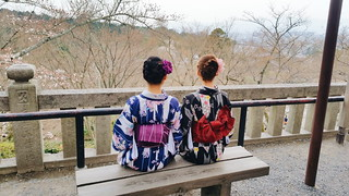 Japanese Women in Kimonos