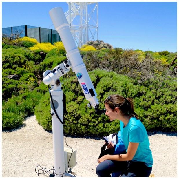 Telescopio solar en el Teide