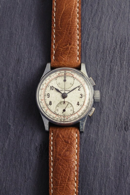 Vintage '40s Helbros chronograph watch #1