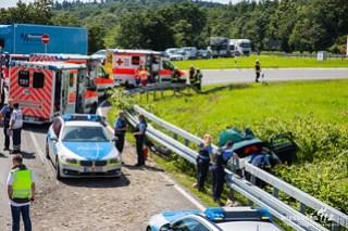 Verkehrsunfall nach Flucht A3 Idstein 20.06.16