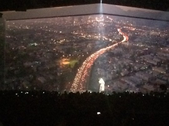 Adele in front of Los Angeles