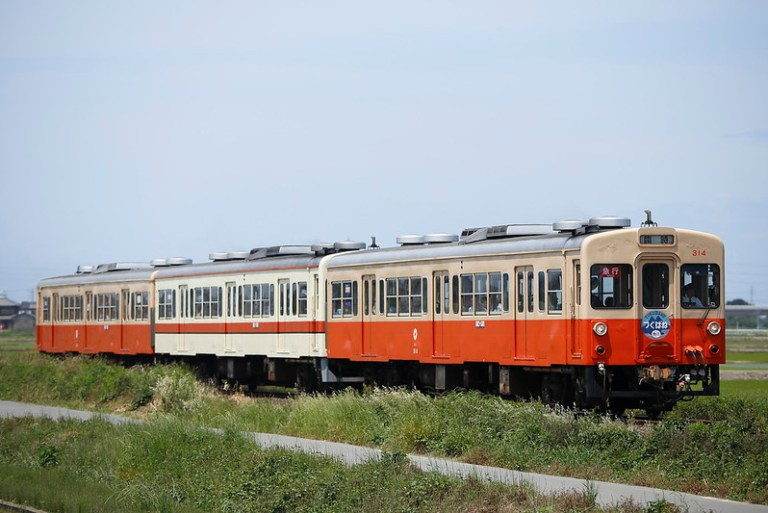 "Kanto Railway DC Type 310 Special Express Train ""Tsukubane"" with Mt.Tsukuba"
