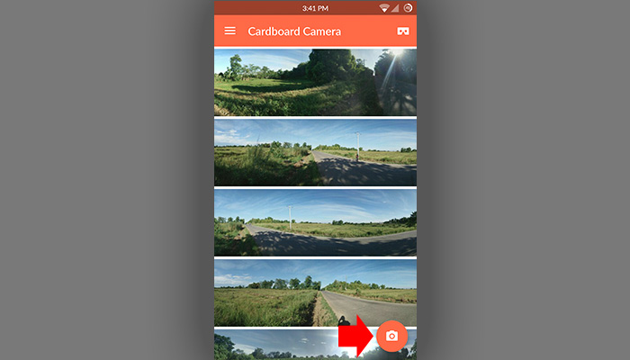 Capture 360 Photo using Cardboard Camera