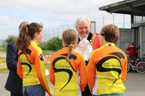 Hillingdon Mayor Visits Slipstreamers: Circuit Link Roads Opening - 2016.05.14