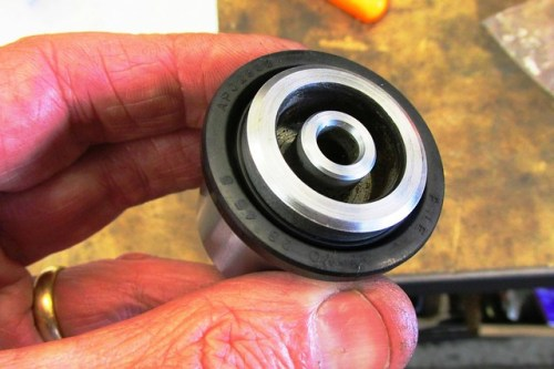 How Dust Seal Fits Into Large Groove Near Front Face of Caliper Piston