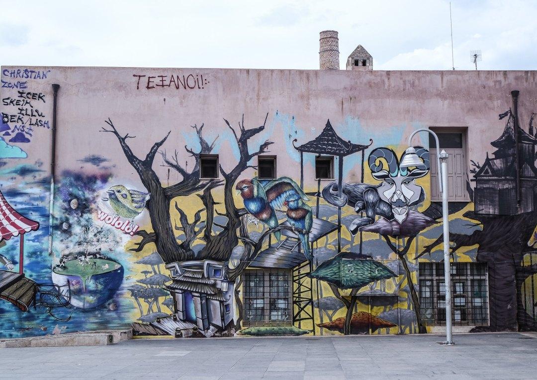 Un murales a Rethymno