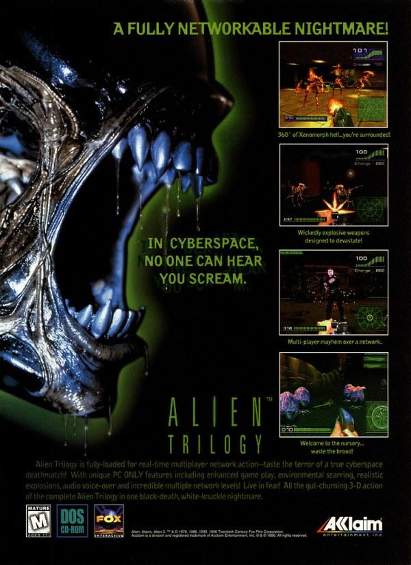 Alien Trilogy ad 01