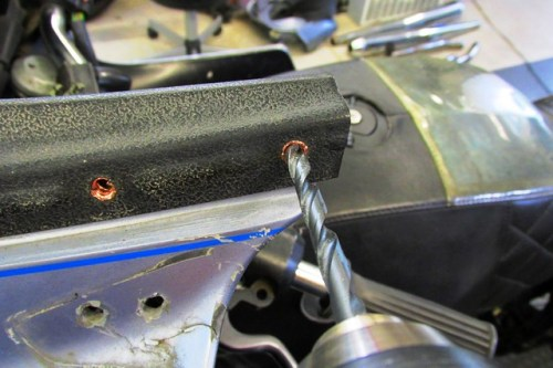 Carefully Drilling Inside of Dash Rivet
