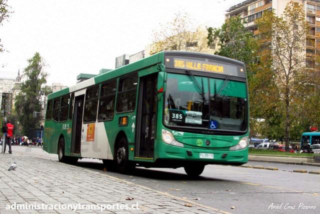 Transantiago 385 | Buses Vule | Caio Mondego H 13.2 - Mercedes Benz / FLXK15