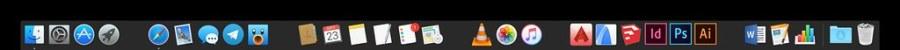 Tuto espaces dans le Dock macOS - Dock normal