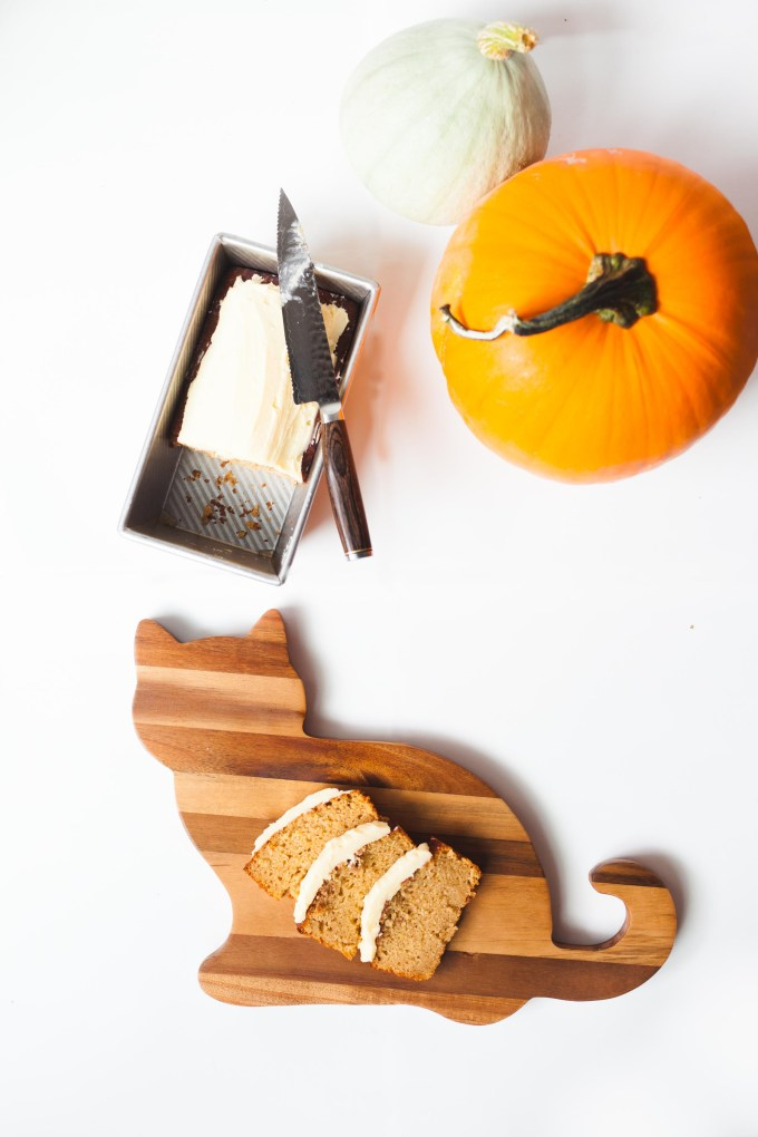 Pumpkin Olive Oil Loaf with Rosemary Buttercream by Kayleigh Kosmas