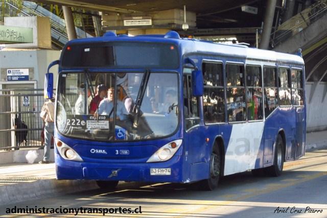 Transantiago 222e | Subus Chile | Marcopolo Gran Viale - Volvo / BJFH74 - 7235