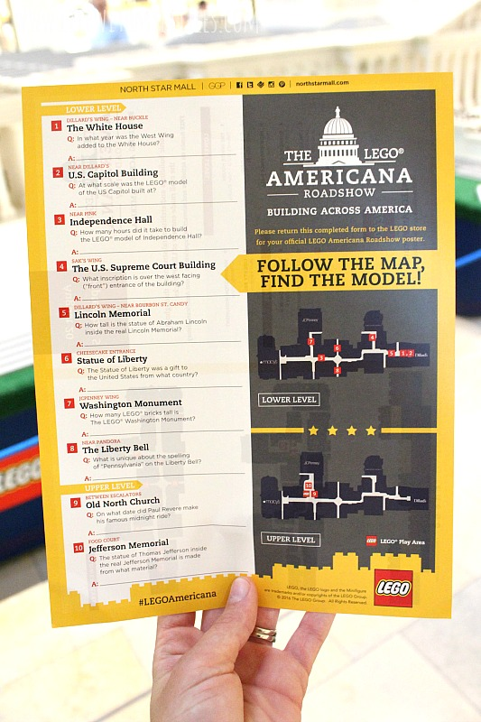A sneak peek at the LEGO Americana Roadshow at the North Star Mall! It's the perfect outing for family members of all ages!