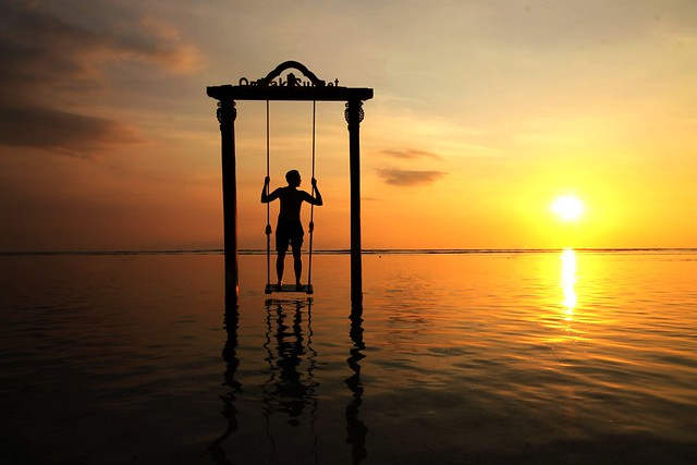 Sunset Swing at Gili Trawangan