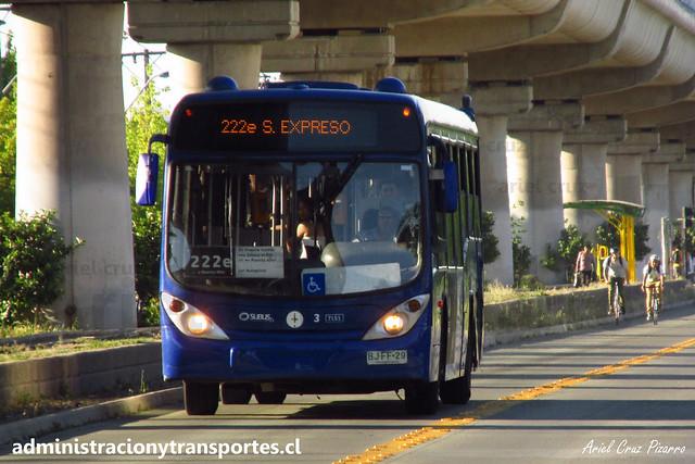 Transantiago 222e | Subus | Marcopolo Gran Viale - Volvo / BJFF29 - 7151