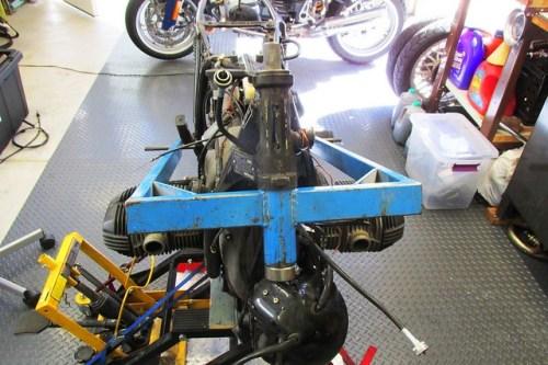 Frame Jig Installed In Steering Stem