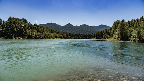 Skagit River and Baker River Confluence-001