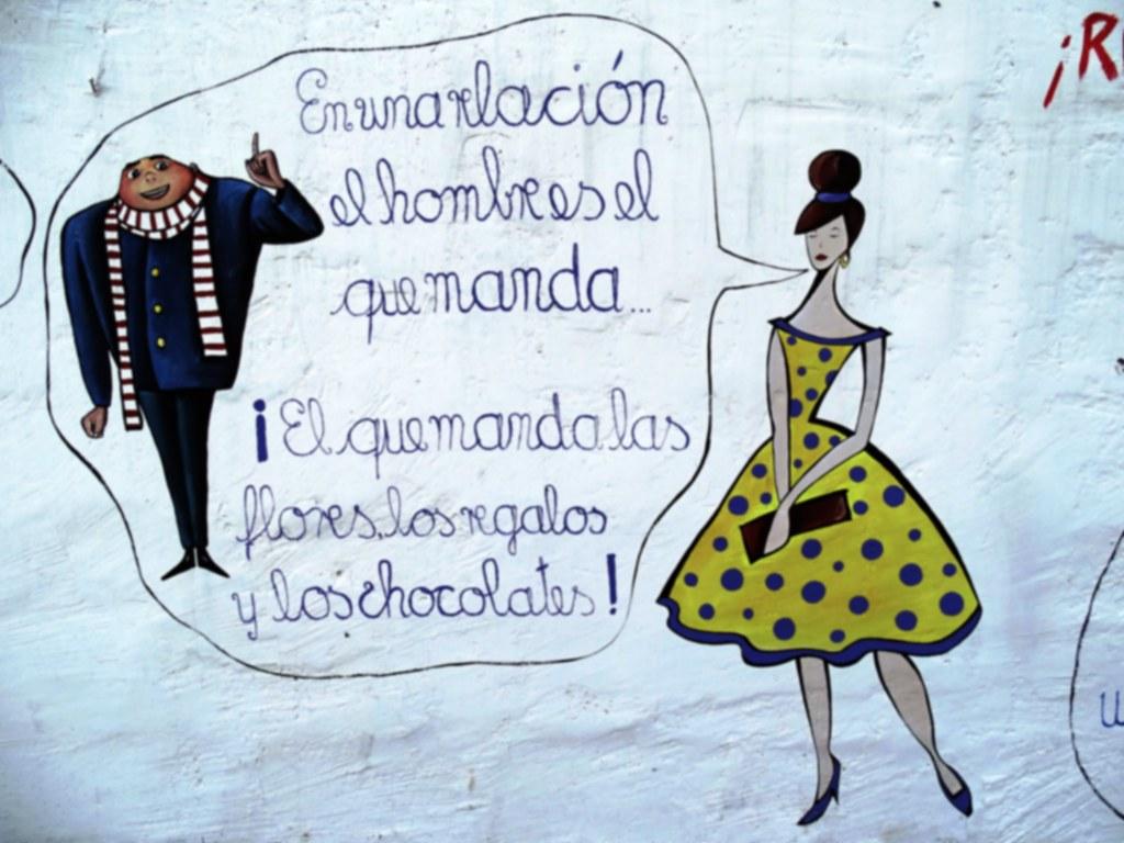 Expresiones sentencias femeninas paredes Baños de Agua Santa Ecuador 05