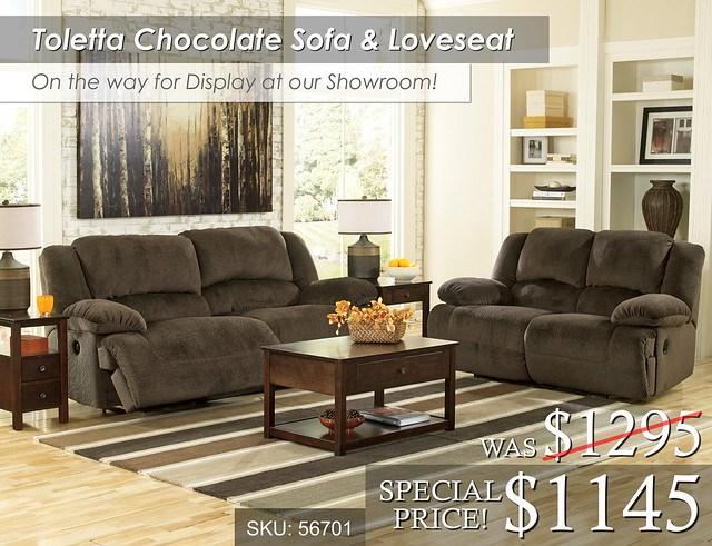 Toletta Chocolate Sofa and Love OTW