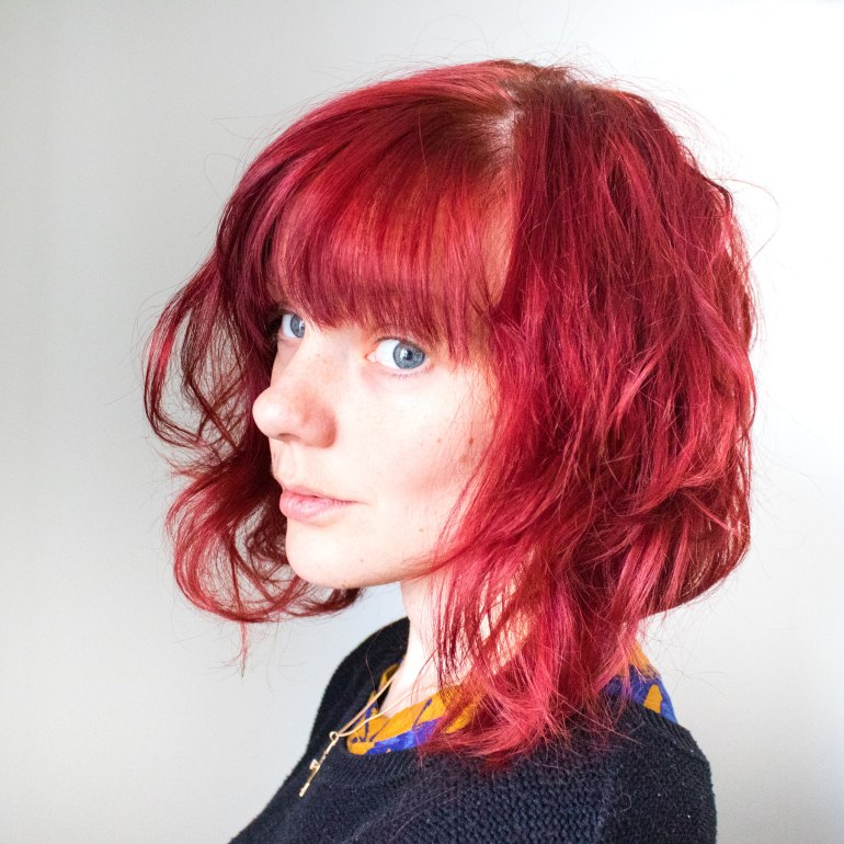 Red curly bob