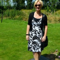 Outfit of the week : black 'n white summer dress