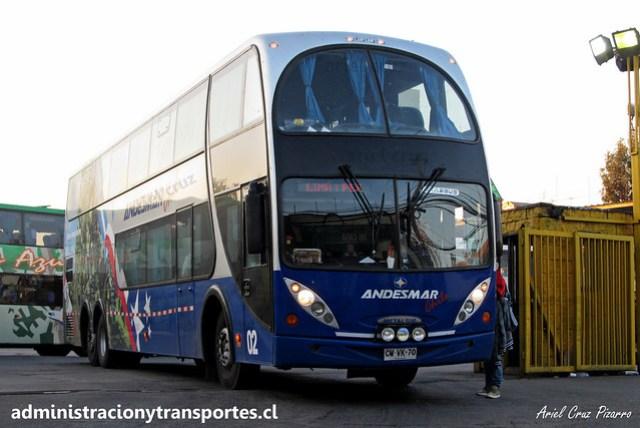 Andesmar Chile | Santiago | Metalsur Starbus - Mercedes Benz / CWVK70 - 02