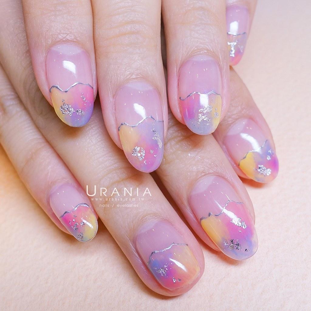 ♥ 粉嫩的少女情懷!愛上粉色指甲彩繪 7
