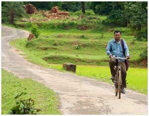 Pandu on Bike