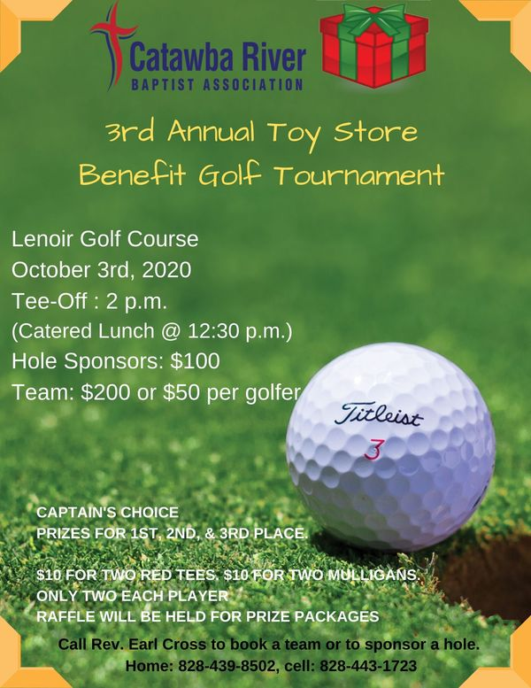 Toy Store Benefit Golf Tournament 2020 Flyer