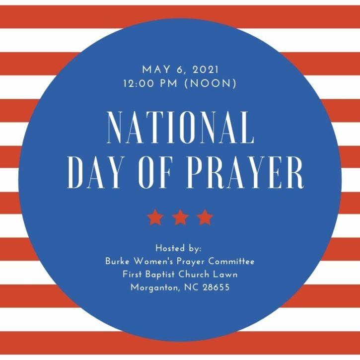 Red Stripes National Prayer Day Social Media Graphic