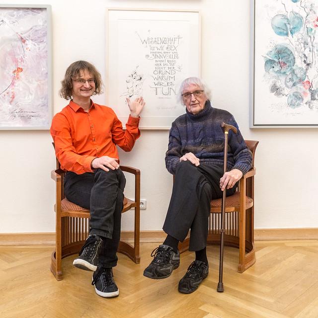 Kay Leonhardt und Prof. Heinz Werner