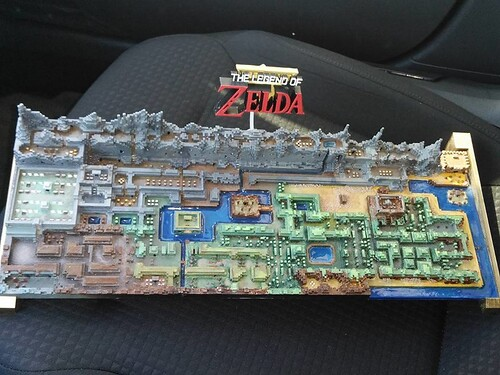 3D Printed Legend of Zelda Map