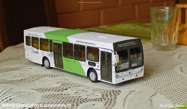 Nuevo Bus Transantiago Miniatura