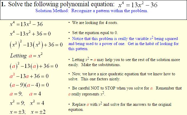 Polynomials of Higher Degree-3
