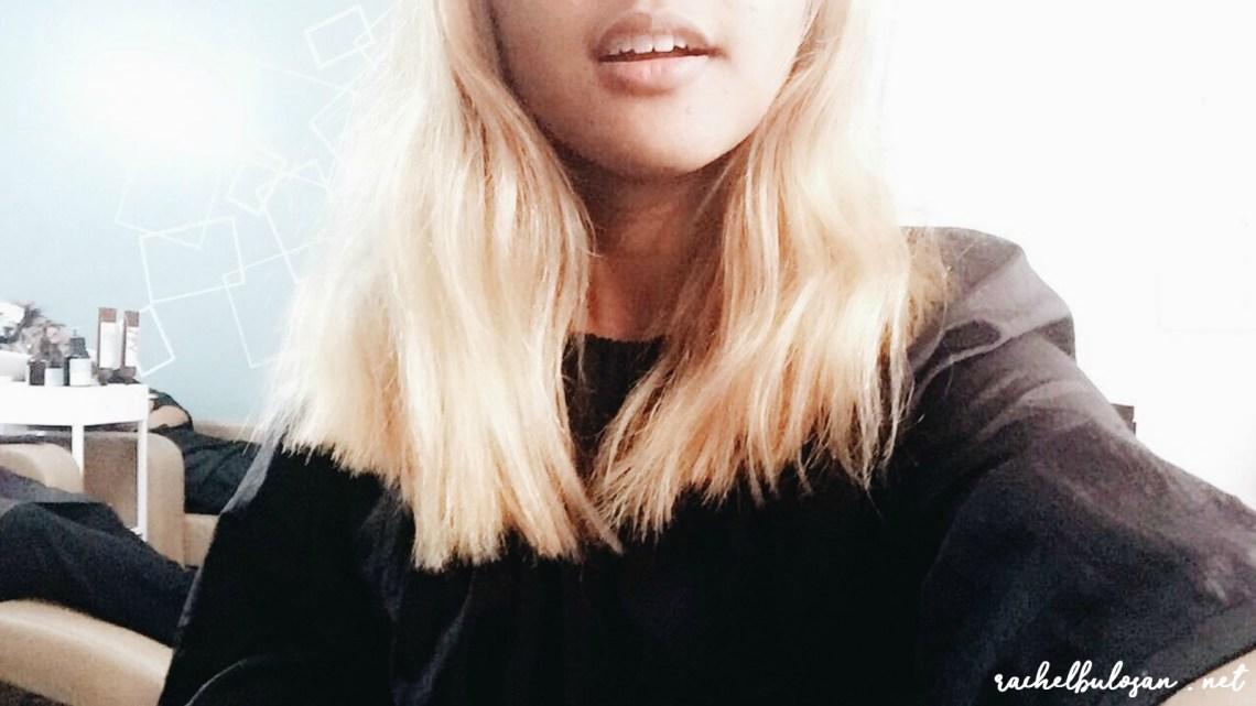 Filipino with Blonde Hair - Initial Hair Cut